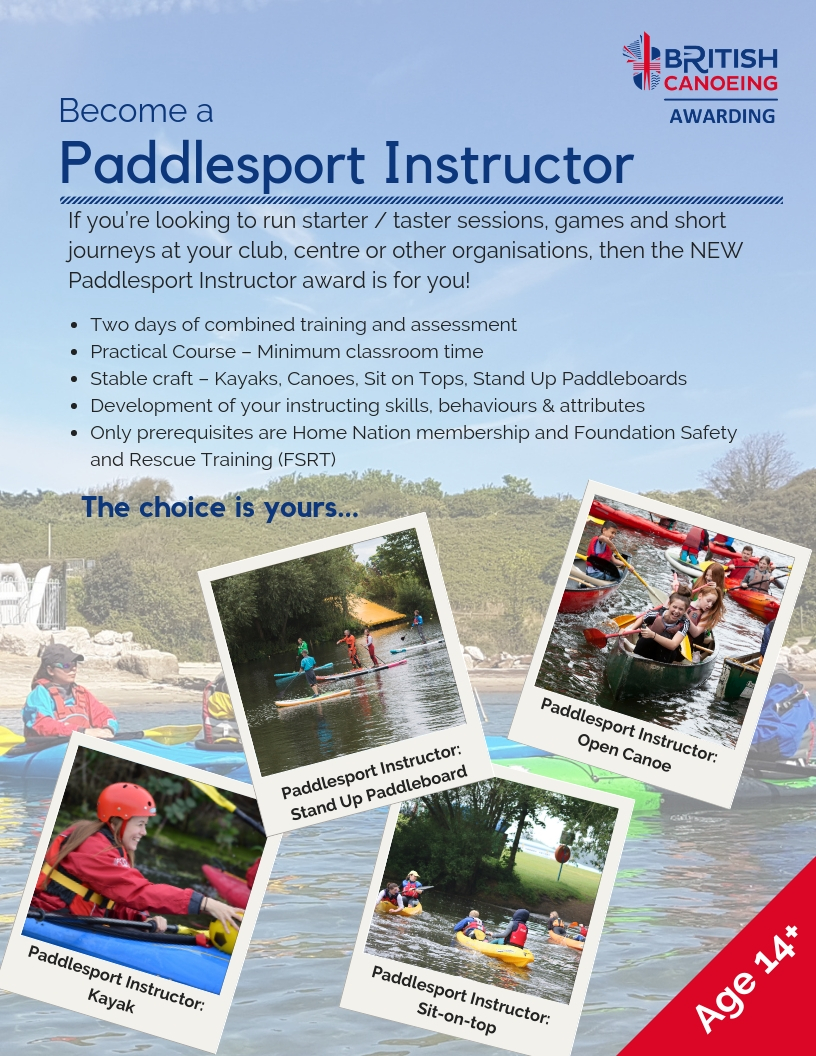 Paddlesport Instructor Post X 4 Craft