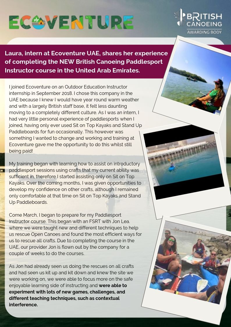Running Paddlesport Courses In The Middle East Page 2