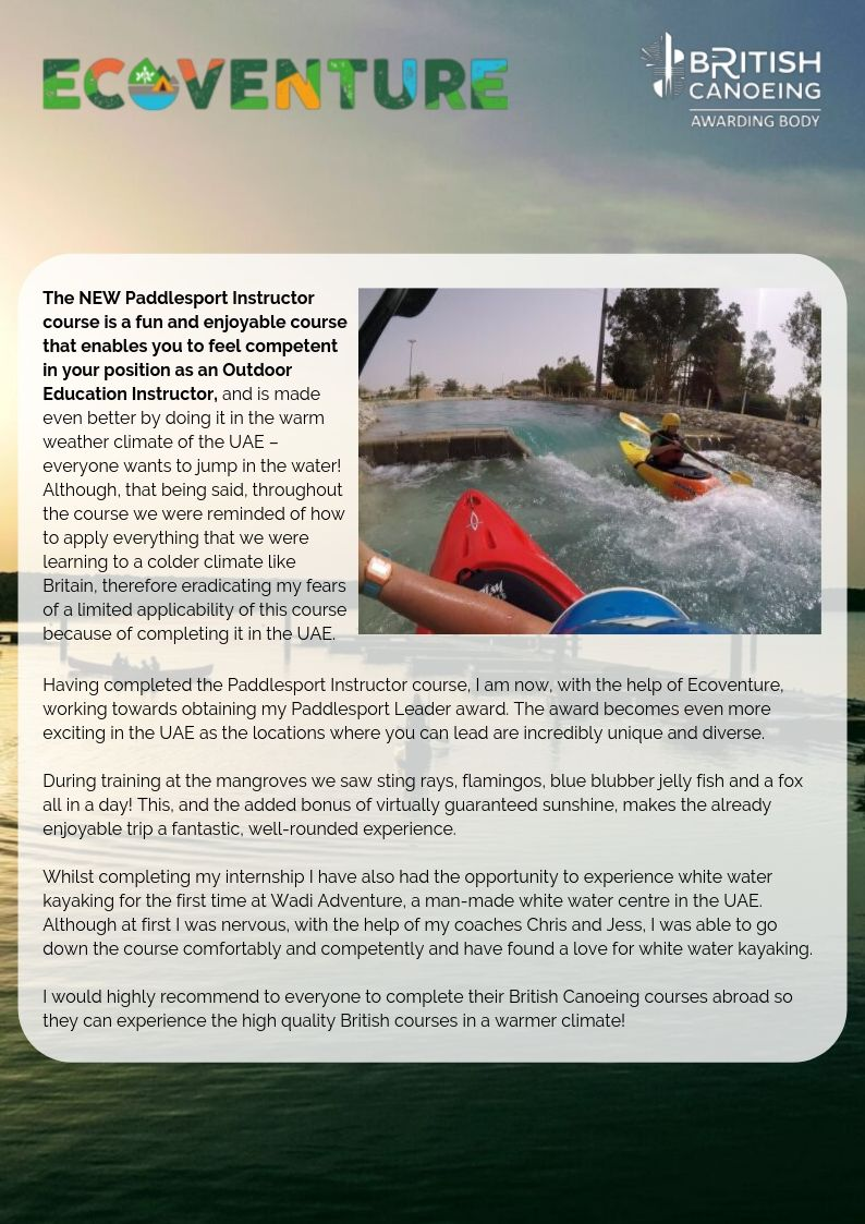 Running Paddlesport Courses In The Middle East Page 3