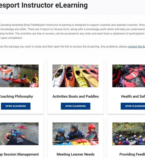 Paddlesport Instructor eLearning