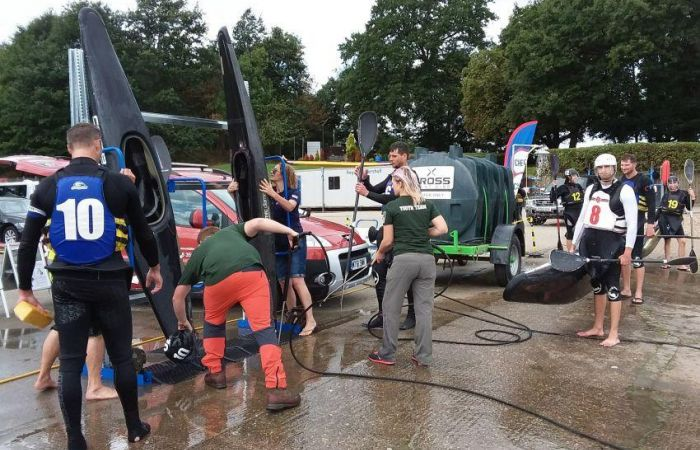 Competitors Check Clean and Dry at European Canoe Polo Championships