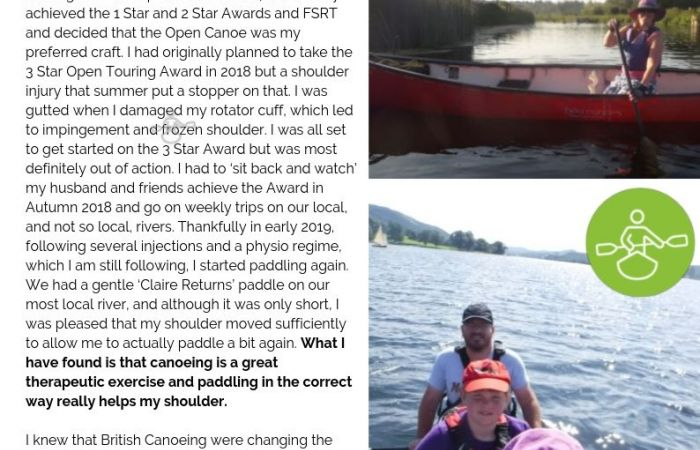 Hear from Claire... on her journey to achieving the Touring Award