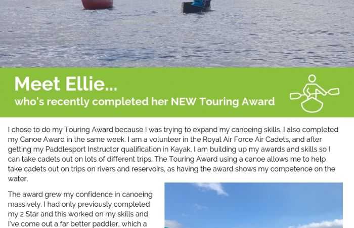 Meet Ellie, who's recently completed her NEW Touring Award