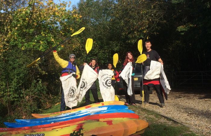 Paddle clubs across the country assemble for the SAS Autumn clean
