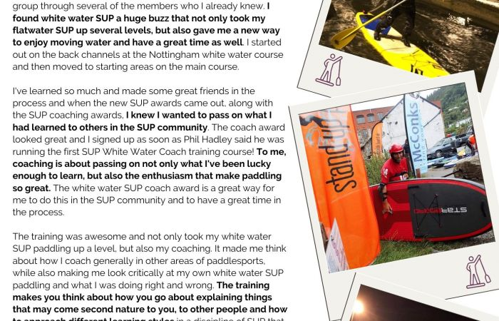 Becoming a SUP White Water Coach