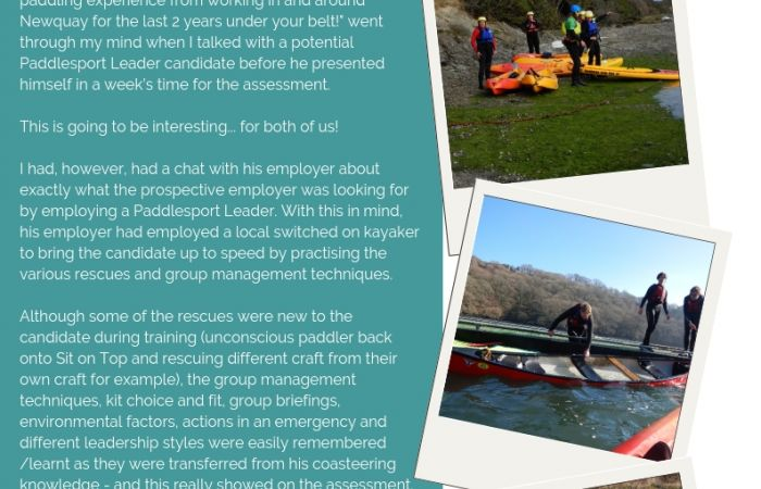 From Coasteering Guide to Paddlesport Leader