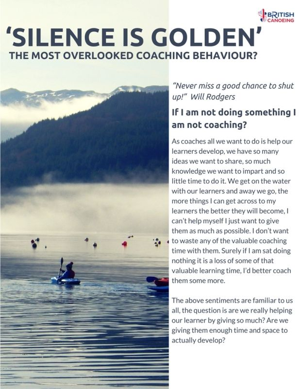 Developing Your Coaching Craft Silence Is Golden P1