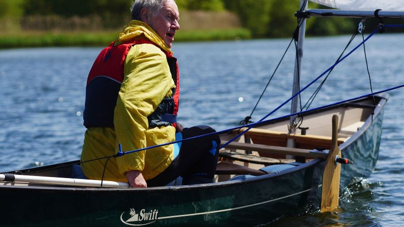 Canoe Sailing at Hornsea Mere