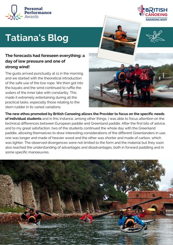 Tatianas Blog Last Sea Kayak Award Of The Year 1