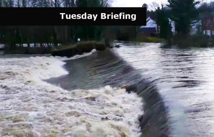 Tuesday Briefing: How dangerous is that local weir?