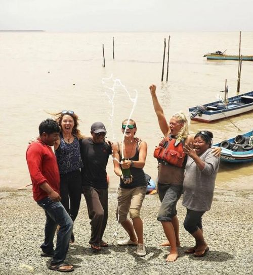 Three British ladies become first people to paddle Essequibo from source to sea