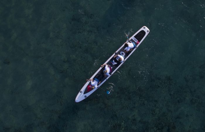 The ultimate team SUP challenge... 1 dragon, 4 riders and 100km!