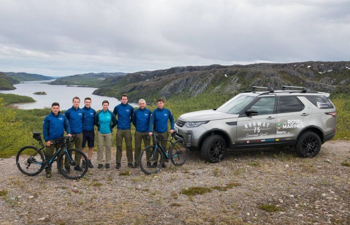 Royal Marines take on Norway 75 kayaking and cycling challenge
