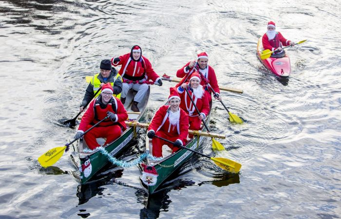 Santas set to make a splash on the Leeds & Liverpool canal this December