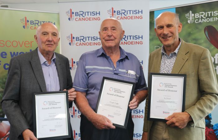 Three key figures within paddling community celebrated with Award of Honour