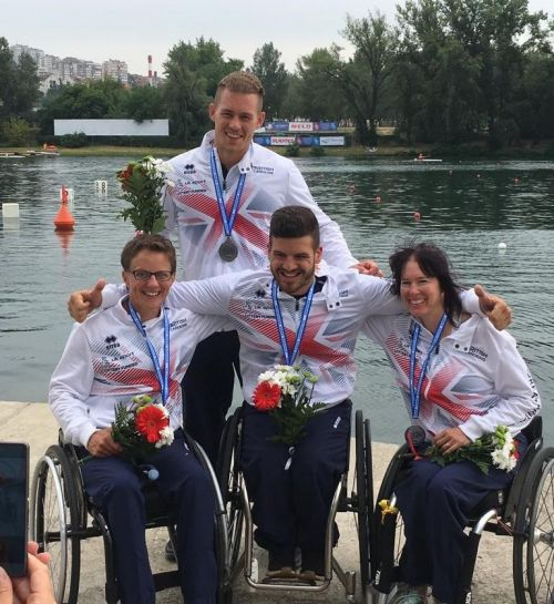 Fabulous four medals for GB on opening day of Paracanoe European Championships