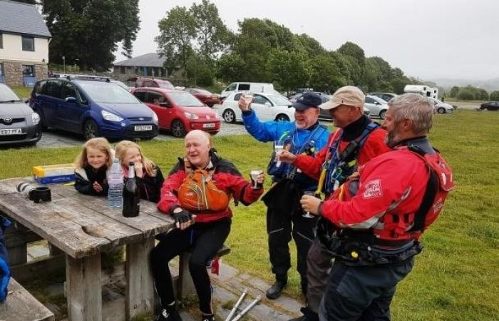 Andy Sutton: first paraplegic paddler to complete the Three Lakes Challenge