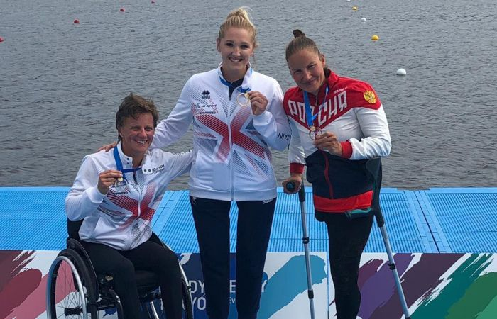 Britain's World Leading Paracanoe team win medals at Tokyo Test Event
