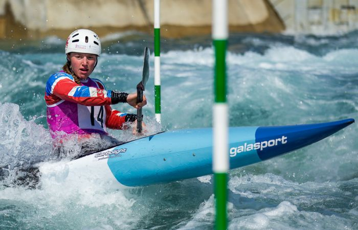Sixth for Megan Hamer-Evans at U23 slalom European Championships
