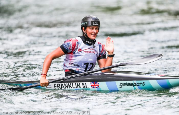Superb World Cup K1 silver for Franklin in Augsburg